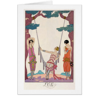 """Carte Été, """"de tonne de fève de la gazette du"""", 1925"""
