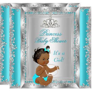 Carte Ethnique argenté turquoise de partie de princesse