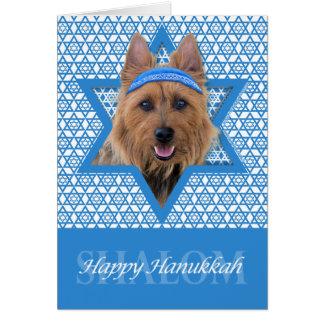 Carte Étoile de David de Hanoukka - Terrier australien