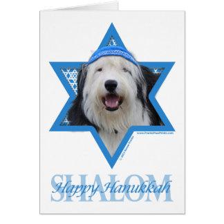 Carte Étoile de David de Hanoukka - vieux chien de