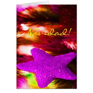 Carte Étoile pourpre de Navidad de Noël I