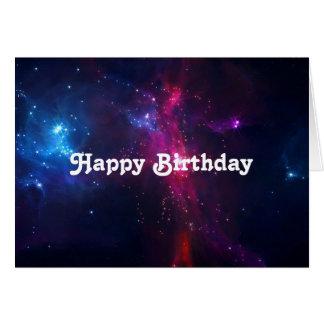 Carte Étoiles cosmiques de l'espace et anniversaire de
