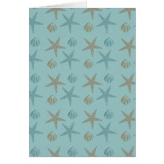 Carte Étoiles de mer et coquilles