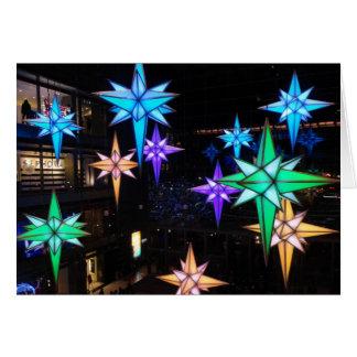 Carte Étoiles de Noël au cercle de Columbus