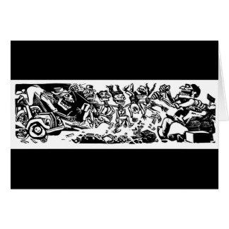 """Carte """"Étrangleur Calaveras"""" circa le MEXIQUE 1942"""