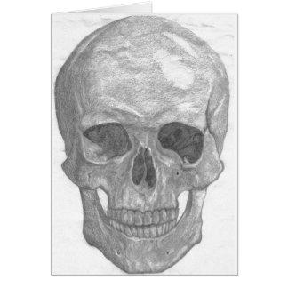 Carte étude de crâne