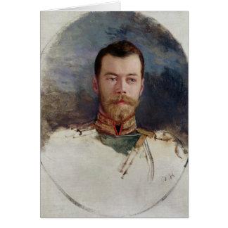 Carte Étudiez pour un portrait de tsar Nicholas II 1898