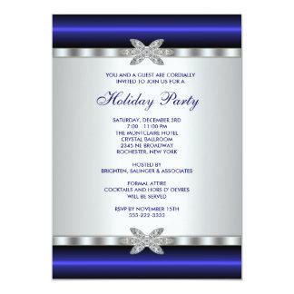 Carte Événement d'entreprise de bleu d'invitations de