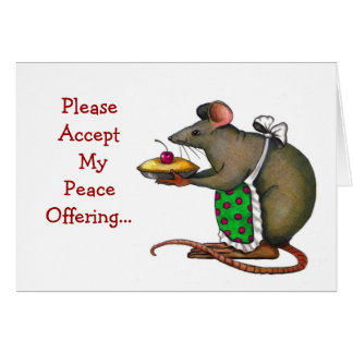 Carte Excuses : Désolé : Offre de paix : Mme Rat : Art