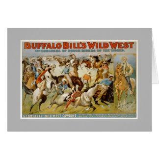 Carte Exposition occidentale sauvage de Buffalo Bill,
