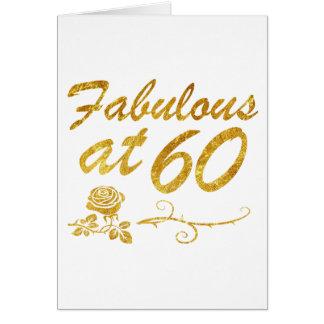 Carte Fabuleux à 60 ans
