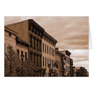 Carte Façades de bâtiment - le Hudson NY