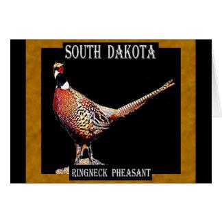 Carte Faisan de Ringnecked (le Dakota du Sud)