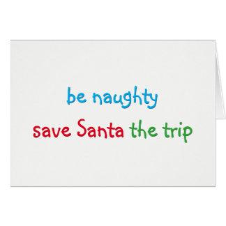 Carte faite sur commande de vacances de Noël de