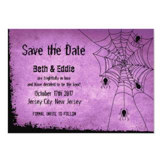 Carte Faites gagner la date pour le mariage de Halloween