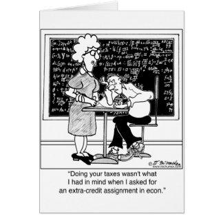 Carte Faites les impôts du professeur pour le crédit