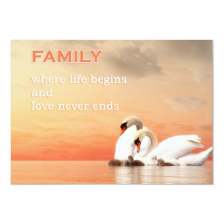 Carte Famille de cygne