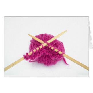 Carte fanatique de tricotage
