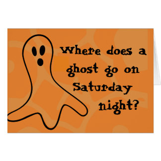 Carte Fantôme de Halloween d'énigme