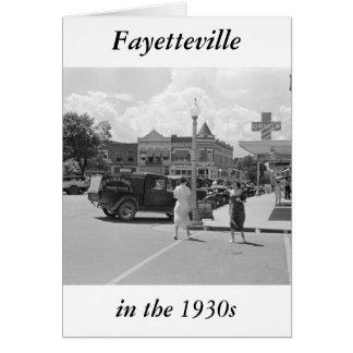 Carte Fayetteville, Arkansas, les années 1930