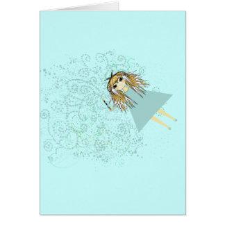 Carte Fée avec la baguette magique et les coeurs