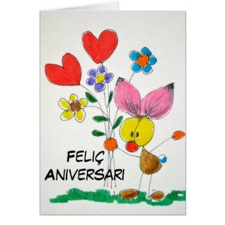 """Carte «Feliç aniversari """""""