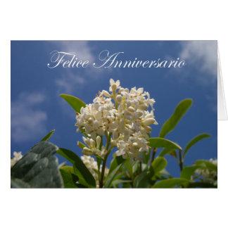 Carte Felice Anniversario - anniversaire heureux