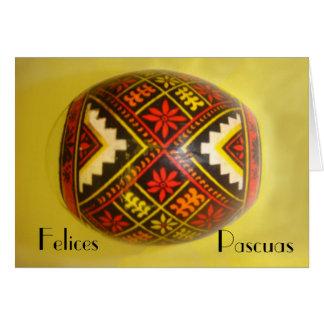 Carte ¡ Felices Pascuas ! - Oeuf peint #6 de salutation