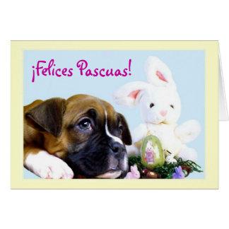 Carte Felices Pascuas Tarjeta de Boxer
