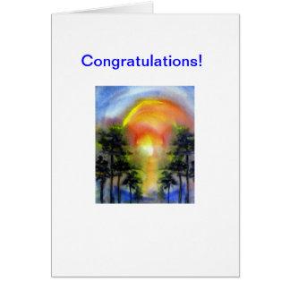 Carte Félicitations d'aquarelle de Moonriver