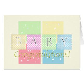 Carte Félicitations de bébé !