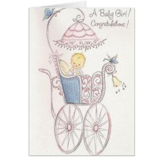 Carte Félicitations de bébé