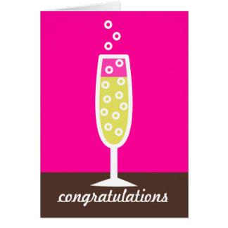 Carte Félicitations de Champagne