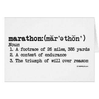 Carte Félicitations de définition de marathon