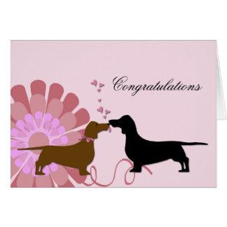 Carte Félicitations de fiançailles de mariage de Doxie
