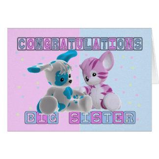 Carte Félicitations de grande soeur