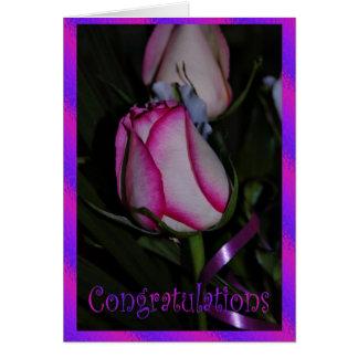 Carte Félicitations de mariage. Fleurs de mariage