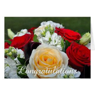 Carte Félicitations de roses de mariage