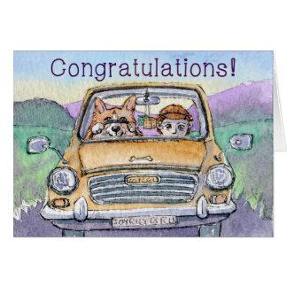 Carte Félicitations d'examen de conduite, entraînement