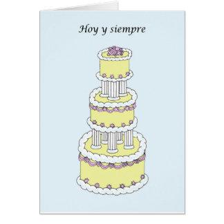 Carte Félicitations espagnoles de mariage