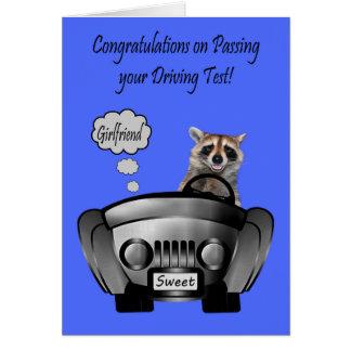 Carte Félicitations, examen de conduite, amie