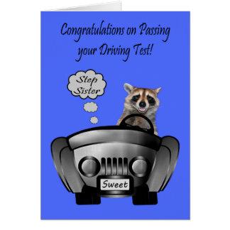 Carte Félicitations, examen de conduite, soeur d'étape