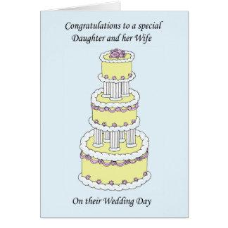 Carte Félicitations fille et épouse le jour du mariage