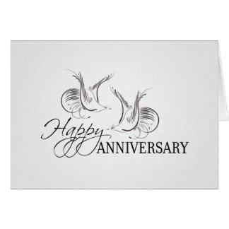 Carte félicitations heureuses d'anniversaire de mariage