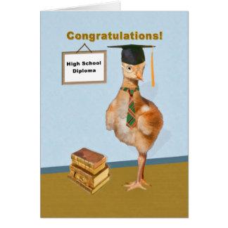 Carte Félicitations, obtention d'un diplôme d'études