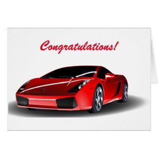 Carte Félicitations passant votre examen de conduite