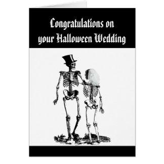 Carte Félicitations squelettiques de couples de mariage
