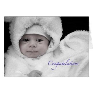 Carte Félicitations sur la naissance d'un bébé