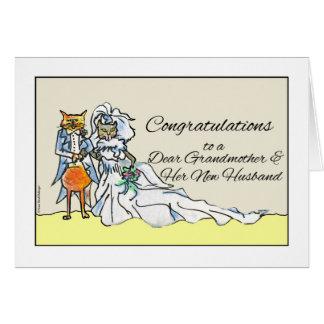 Carte Félicitations sur le mariage pour la grand-mère,