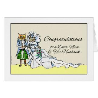 Carte Félicitations sur le mariage pour la nièce, couple